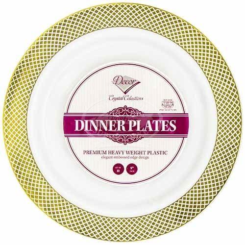 Decor Crystal Dinner Plates White-Go 10 Pc  sc 1 st  Rockland Kosher Supermarket & Decor Crystal Dinner Plates White-Go 10 Pc - RocklandKosher.com ...