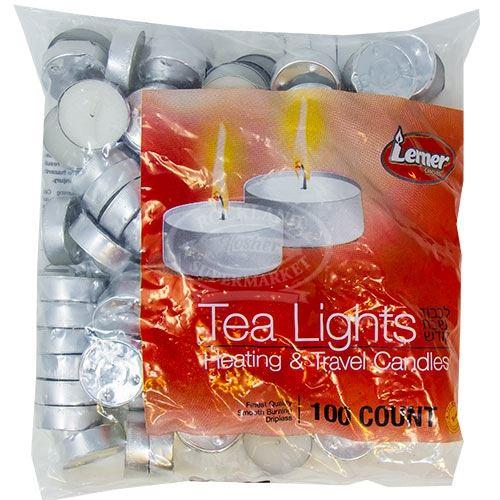 Lerner Tea Lights In Bag 100 Ct